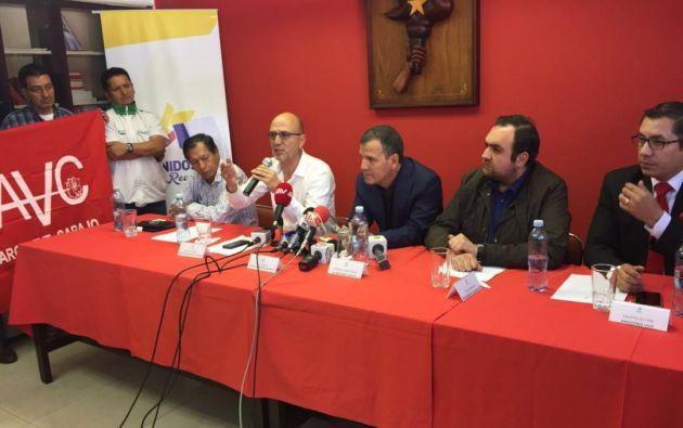 """Los militantes de la agrupación dijeron que los pedidos de Jairala eran """"inviables"""". Foto: Patricio Díaz / Ecuavisa."""
