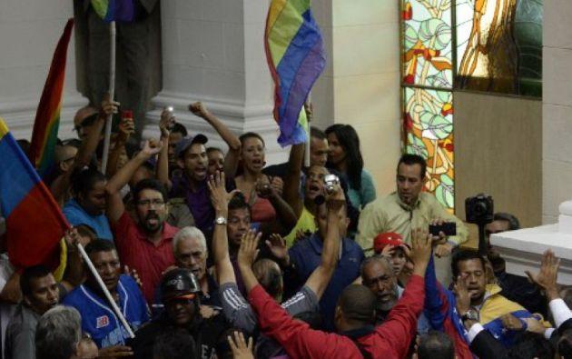Los opositores y la minoría chavista que integran el Legislativo acudieron este domingo a una sesión especial en la que se abordó un único punto.