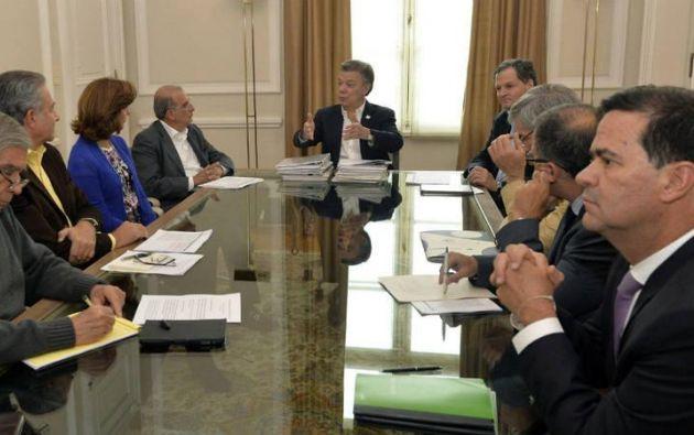 """El mandatario colombiano pidió avanzar en el proceso de paz """"la mayor rapidez posible"""". También señaló que tras los resultados del plebiscito Colombia saldrá fortalecida."""