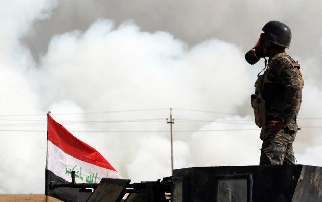 En siete días, 32 bombardeos aéreos destruyeron 136 posiciones del Estado Islámico. Foto: AFP.