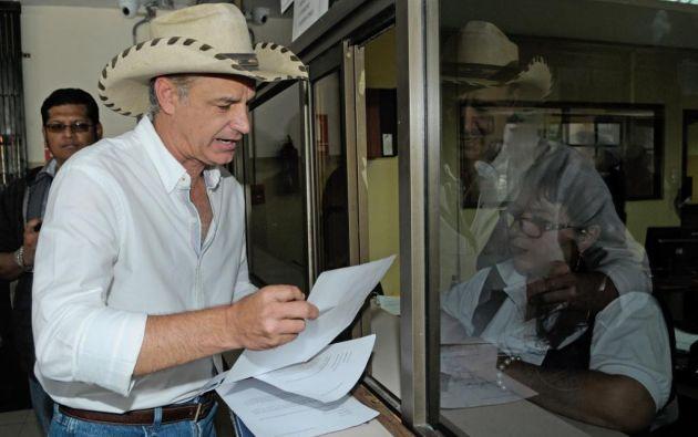 Paul Olsen, precandidato por el movimiento de Jimmy Jairala, confirma su separación. Foto: API.