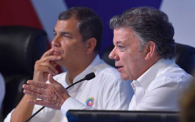 """""""Para todo lo que sea por la paz siempre estarán las instalaciones de Quito y Ecuador, para recibir los diálogos de paz, en este caso con el ELN"""", afirmó Correa. Foto: Archivo"""
