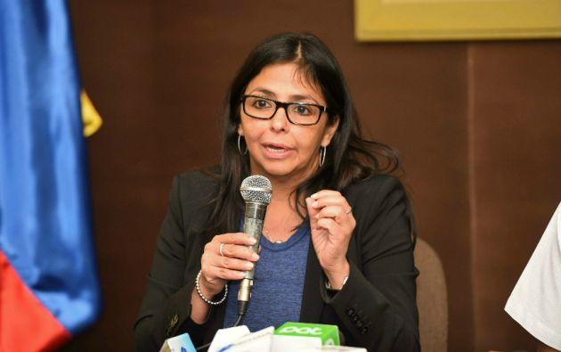 """""""Se inicia en Venezuela un proceso de diálogo con los sectores opositores"""", dijo este sábado la canciller Delcy Rodríguez. Foto: REUTERS."""