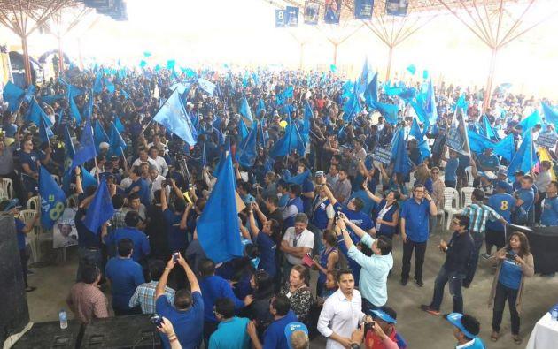 La agrupación política posesionó a su directiva nacional en convención en Portoviejo. Foto: Twitter.