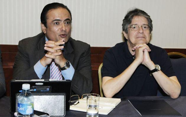El candidato presidencial por CREO hizola propuesta durante una reunión con sus adeptos. Foto: API.