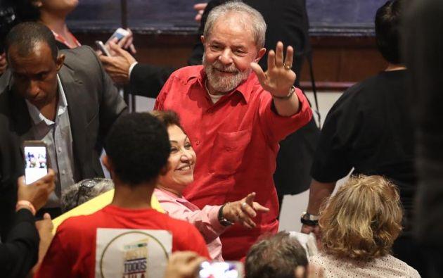 """BRASIL.- El expresidente brasileño Luiz Inácio Lula da Silva atribuyó las acusaciones de corrupción en su contra a un """"pacto diabólico"""" entre distintos poderes. Foto: EFE"""