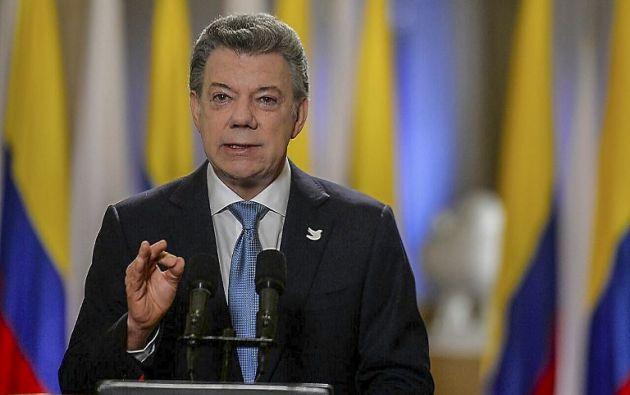 """COLOMBIA.- Santos aseguró que el nuevo acuerdo """"retoma y refleja las propuestas, y las ideas de todos los que participaron en este gran diálogo nacional"""". Foto: AFP"""