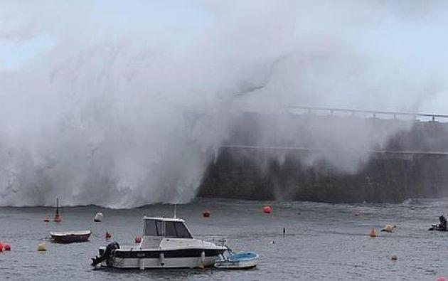 NUEVA ZELANDA.- Numerosas zonas en la costa tuvieron que ser evacuadas debido a las olas que se esperaban de hasta 5 metros. Foto: Redes sociales
