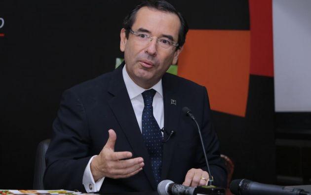 El ministro de Comercio Exterior explica el proceso para que entre en vigencia el acuerdo. Foto: API.