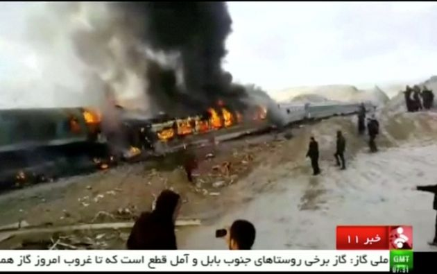 Los trenes accidentados cubrían las líneas entre Tabriz y Mashad y Mashad y Semnan y el choque se produjo en la citada estación, ubicada en el norte de la provincia de Semnan. Foto: REUTERS.