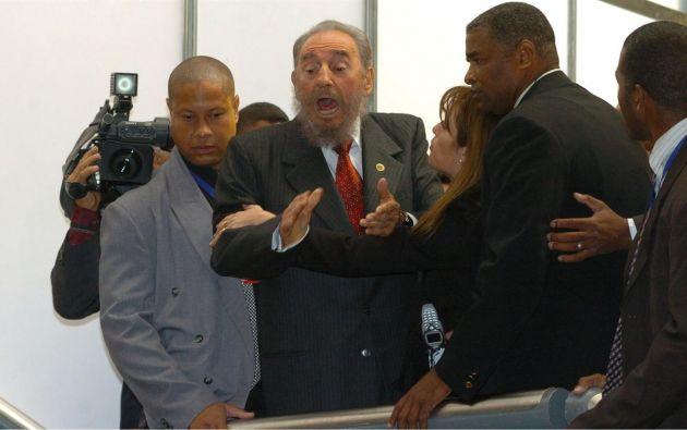 """CÓRDOVA, Argentina.-¿Quién tú eres? Dime quién te paga a ti para que hagas estos escándalos"""", increpó Castro al periodista.  Foto: Tomado de Diario La Nación."""