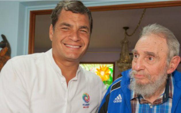 QUITO, Ecuador.- El presidente ecuatoriano consideraba a Fidel Castro como un mentor. Foto: Cuba Sí.com.