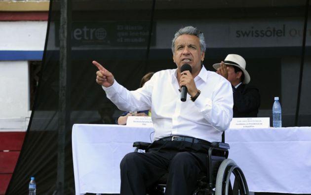 LOJA, Ecuador.- Moreno, quien ahora es el candidato a la presidencia por Alianza PAIS. Foto: Archivo/API.