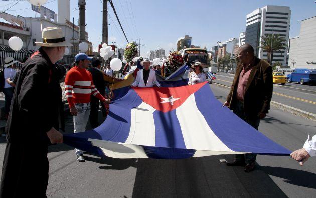 QUITO, Ecuador.- El embajador de Cuba en Ecuador, Rafael Dausá, agradeció las muestras de solidaridad con el pueblo de la isla. Foto: API.