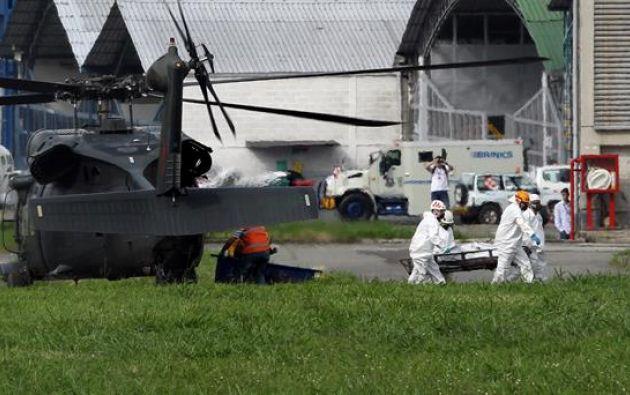 Autoridades colombianas redujeron a 71 el número de fallecidos en el avión fletado por Chapecoense. Foto: EFE
