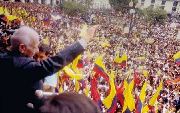 Sixto se convirtió en Presidente de los ecuatorianos en 1992. Foto: Archivo Vistazo