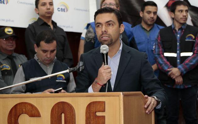 """El presidente del Consejo, Juan Pablo Pozo, indicó que con la medida se busca """"garantizar la seguridad de los certificados de votación"""". Foto: API."""