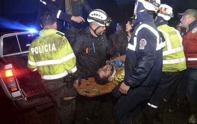 COLOMBIA.- Helio Neto fue el último de los sobrevivientes en ser rescatado la madrugada del 29 de noviembre de 2016. Foto: Agencias