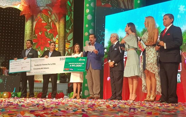 ECUADOR.- La Teletón 'Juntos por la Vida' 2016 superó la recaudación del 2015. El alcalde de Guayaquil, Jaime Nebot, anunció que el monto total recaudado es de 1'623.250 dólares. Foto: Twitter