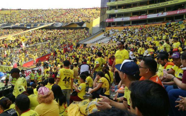 El partido de hoy en el Monumental empieza a las 16h00. Foto: Cortesía