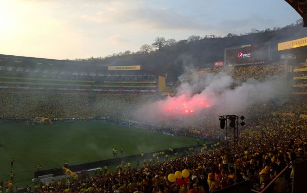 Los goles fueron anotados por Damián Díaz (9'), Máximo Banguera (38') y uno en contra de Esteban Solari a los 31'. Foto: Cortesía