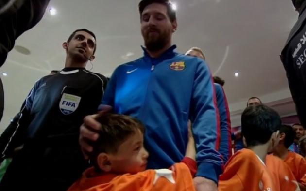 Cuentas en redes dedicadas a Messi siguieron de cerca el encuentro con Messi. Foto: Fans de Messi, en Twitter.