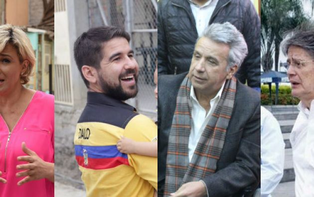 Moreno y Lasso, defendieron su posición en las encuestas y formalizaron alianzas, respectivamente. | Foto: Ecuavisa