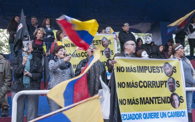 En la segunda semana de diciembre, los plantones contra la Ley de Plusvalía regresaron a la Avenida de Los Shyris. Foto: Vistazo.