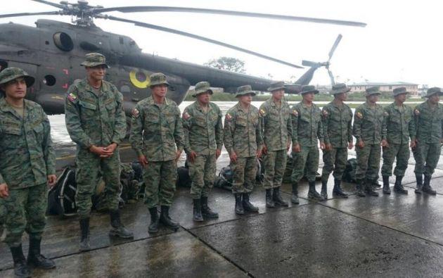 Uniformados se encuentran bien, según dio a conocer el ministro de Defensa. Foto: @RicardoPatinoEC.