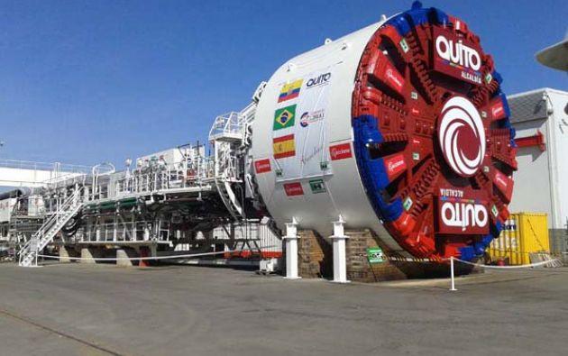 Odebrecth forma parte de un consorcio con una empresa española en la obra del metro. Foto: Twitter.