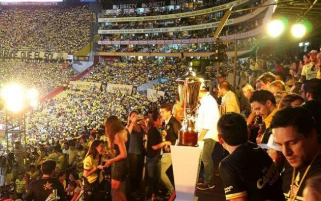 El campeonato de fútbol local concluyó el pasado 10 de diciembre con la entrega de la copa a Barcelona en Guayaquil. Foto: Cortesía