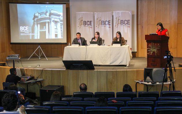 Madeleine Abarca dio su primera rueda de prensa ayer como nueva Gerente del Banco Central. Foto: Flickr del BCE