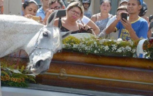 El animal fue el protagonista del cortejo fúnebre que despidió a Wagner Figueiredo de Lima, de 34 años.