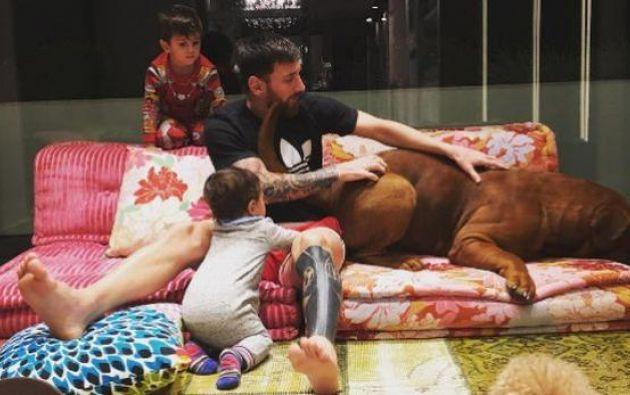 El perro fue un regalo que le hizo su esposa Antonella hace doce meses. Foto: Instagram