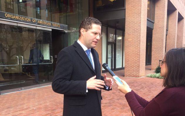 Rodas culminó su visita a Washington, cuyo fin fue obtener información sobre Odebrecht. Foto: Twitter / Mauricio Rodas.
