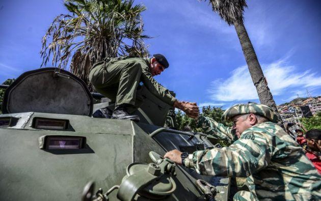 """VENEZUELA.- El Gobierno venezolano busca que """"ninguna potencia imperialista"""" pueda agredir a su país, e hizo una muestra de ejercicios cívico-militares. Foto: AFP"""