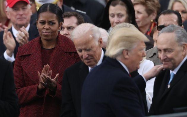 Michelle Obama no parecía impresionada durante la ceremonia de investidura de Donald Trump como el 45 presidente de EE.UU.