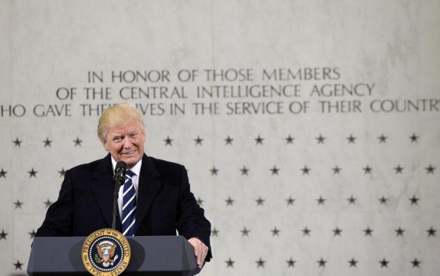 """Trump llegó a la CIA con un mensaje muy claro para toda la comunidad de inteligencia: """"De verdad les apoyo"""", les dijo."""