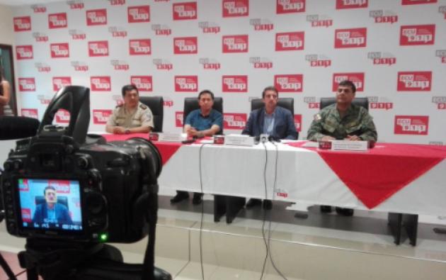 Desde el ECU 911 en Morona, las autoridades indicaron que no se negociará la liberación de los militares retenidos. Foto: Gobernación de Morona.