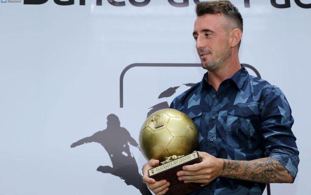 Damián Díaz fue escogido como el mejor futbolista del torneo ecuatoriano del 2016. Foto: API
