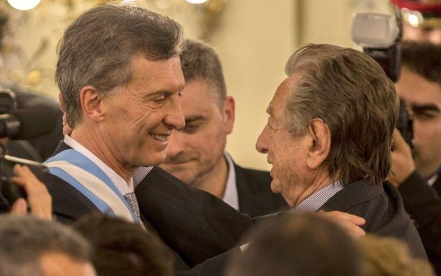 Mauricio Macri y su padre, Franco. Foto: Tomada de La Nación.