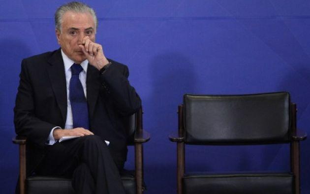 BRASILIA, Brasil.- Los fiscales están investigando si Temer y muchos otros políticos participaron en la red de sobornos. Foto: AFP
