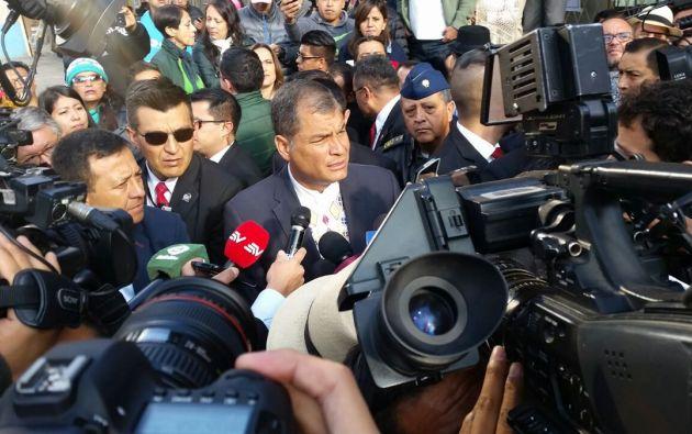También hizo un resumen de los diez años que ha estado en el poder. Foto: Tomada de Twitter / El Ciudadano.