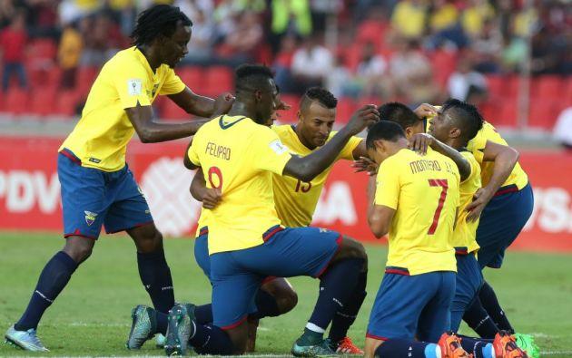 En la última fecha de las eliminatorias mundialistas, Ecuador goleó 3 a cero a Venezuela. Foto: Agencias