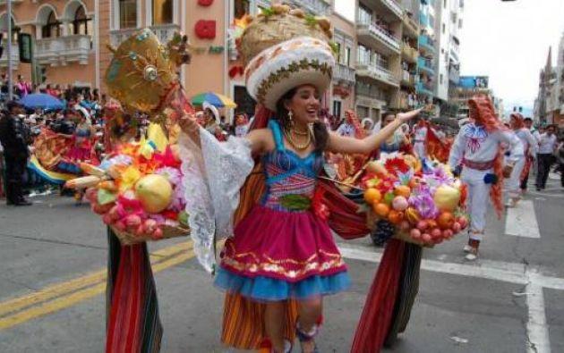 Ambato es uno de los principales destinos para los ecuatorianos en el feriado de Carnaval. Foto: Tomado de Andes