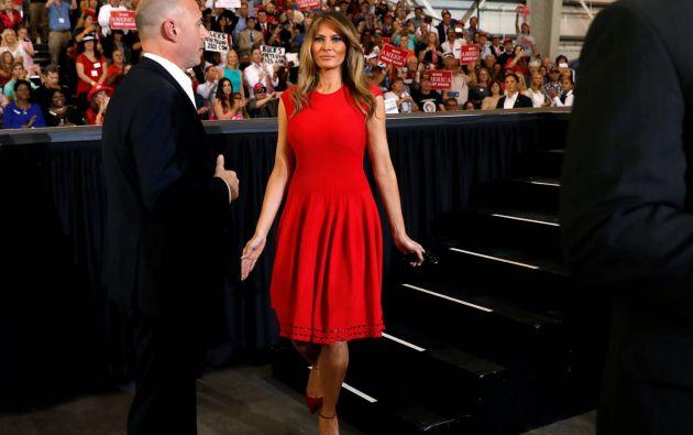 Melania Trump, exmodelo de origen esloveno, es la tercera esposa del actual Mandatario de EE.UU. Foto: Agencias