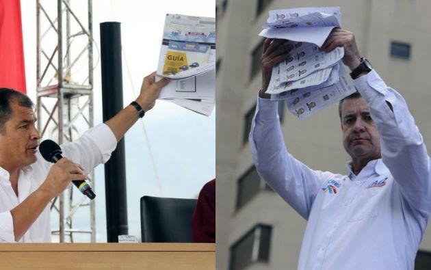 El presidente Correa afirmó que su movimiento Alianza PAIS obtuvo una victoria contundente en estas elecciones.
