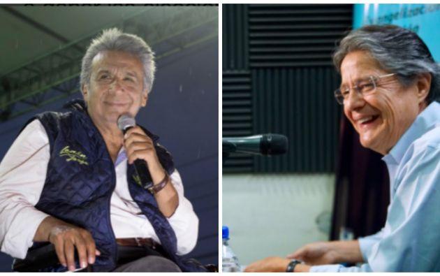 El oficialista Lenín Moreno y el líder de CREO Guillermo Lasso se medirán en las urnas nuevamente el 2 de abril.Foto: Collage