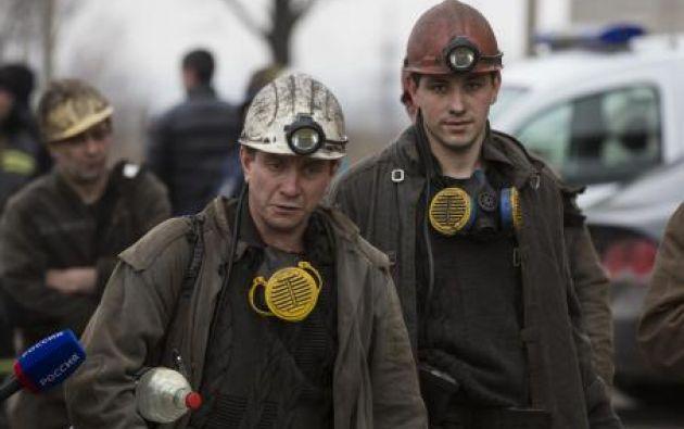 En la mina de Ucrania se encontraban al menos 32 trabajadores. Foto: Agencias