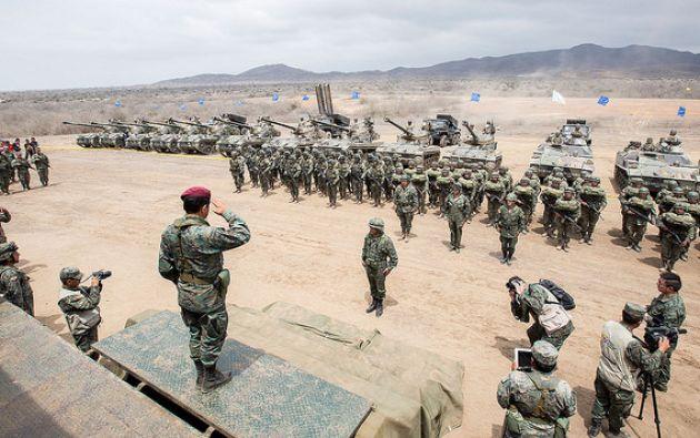 La Fuerza Terrestre tiene desde hoy un nuevo Comandante General: Edison Narváez Rosero. Foto: Referencial del M. de Defensa